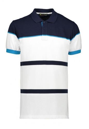 BENCH white Striped Polo Shirt 0F41CAA22E7205GS_1