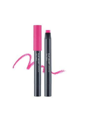 THE FACE SHOP Flat Velvet Lipstick Pk04 Pink Moment F5CB3BE207BEADGS_1