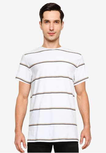 Produkt white and brown Elliot Tee 4C437AA68F4F8CGS_1