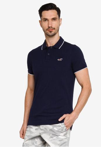 Hollister navy Musclefit Polo Shirt CC3BEAA1F5A8ACGS_1