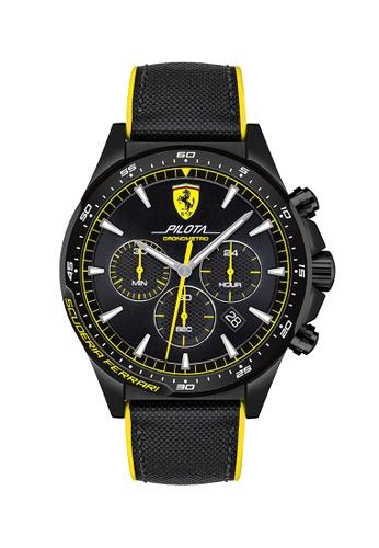 Scuderia Ferrari black Scuderia Ferrari Pilota Black Men's Watch (0830622) FD053AC57E6F84GS_1