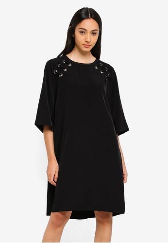 Sisley black Tunic Dress BBD3DAA5ECCDA7GS_1