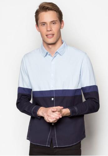 休閒esprit台灣官網長袖襯衫, 服飾, 印花襯衫