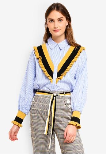 Haute Kelly blue Mun-Hee Shirt 9BABBAA9558B43GS_1