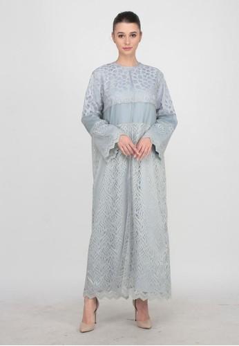 Shaza Muslimwear blue Casual Long Outer 1F092AA0B563B8GS_1