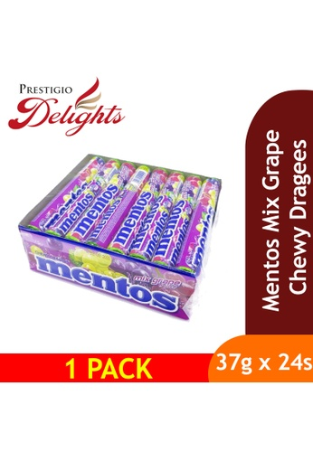 Prestigio Delights Mentos Mix Grape Chewy Dragees 37g x 24s A7994ES4FBEACFGS_1