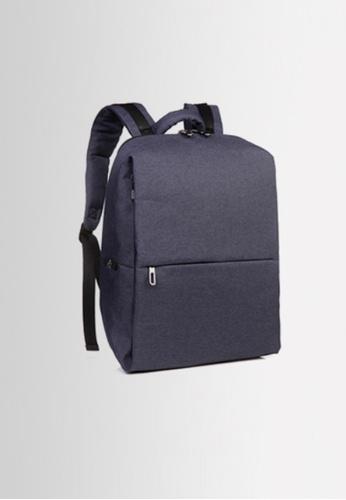 BLANC NOIR navy Minimal Oxford Cloth Daily Backpack BL685AC54YAJHK_1