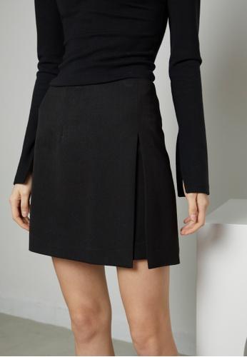 TAV [Korean Designer Brand] High Quality Slit Mini Skirt - Black BED31AAB8C063DGS_1