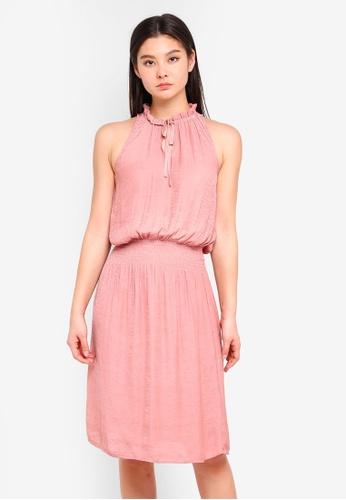 ICHI pink Art Dress CBB05AAA08782CGS_1