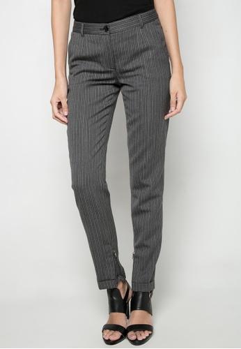 Dolce & Gabbana grey Striped Slim Fit Pants DA093AA52TOTPH_1
