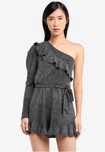 River Island silver Sless Pippy Playsuit RI009AA0SYMAMY_1