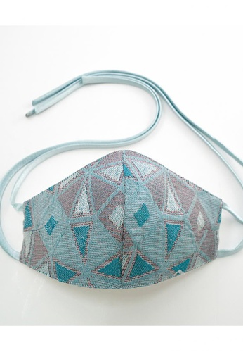 Bewa blue Tie Back - Songket Mask (Turqoise Blue) C4EABESD351A44GS_1