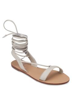 Spring Tie Leg Flat Sandal