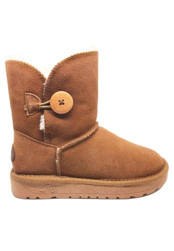 Twenty Eight Shoes 真皮圓鈕雪地靴UUD03 90796SH9C296D8GS_1