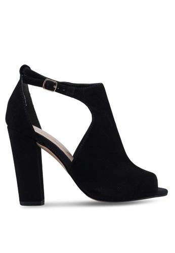 c158b6773fb ALDO black Rienia Peep Toe Ankle Strap Block Heels 81FB8SH511A336GS 1