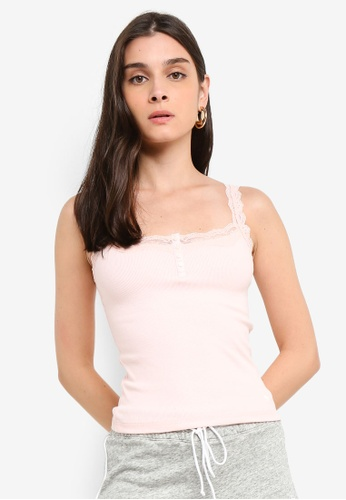 850f516995291 Shop Abercrombie   Fitch Lace Cami Top Online on ZALORA Philippines