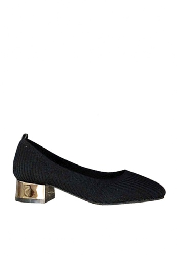 Twenty Eight Shoes black Trendy Knitted Fabric Low Heels VL6581 D3EE5SH282AD72GS_1