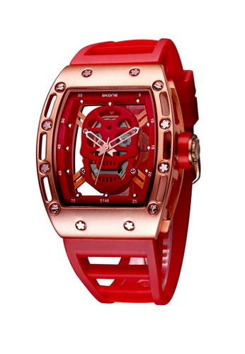 Sk Time Watch Shop red Japan Design Skone Skull watch CC564AC5F6BE23GS_1