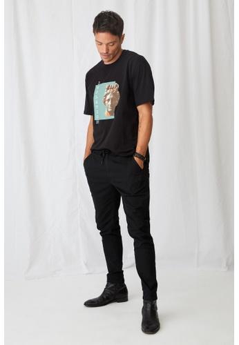 DeFacto 黑色 Beli Lace Slim Jogger Trousers DD251AA9E92C85GS_1