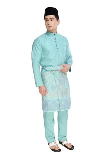 Amar Amran green Baju Melayu Raja Sehari D442EAA2C32D1DGS_1