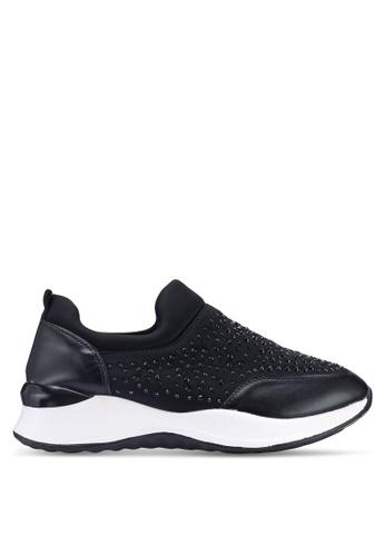 NOVENI black Embellished Sneakers 50B66SHF93E363GS_1