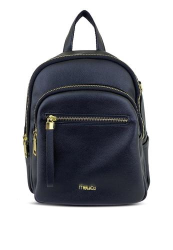 Mel&Co black Faux Leather Backpack 44D87AC9CC4489GS_1