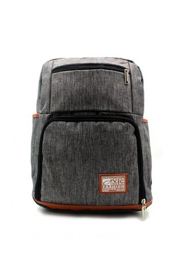 Urban Hikers grey Khaled Casual Backpack UR461AC33MXIPH_1