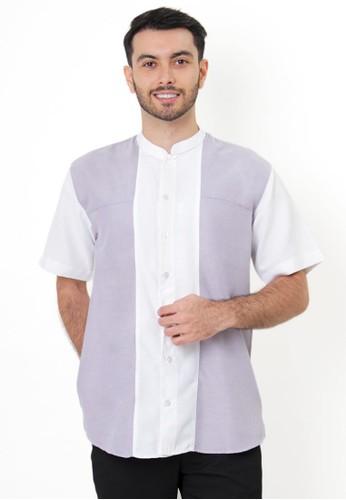 NextUp white and purple and multi Baju Koko Nextup Lengan Pendek 1331 - Soft White FCC95AA0182288GS_1