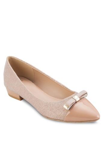 領結滑尖形鞋頭低跟鞋, esprit au女鞋, 鞋