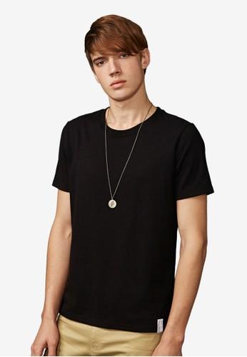 esprit taiwan金緻復刻。重磅430克。純棉圓領T-MIT-03470-黑色, 服飾, 素色T恤