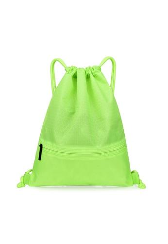 VIVIESTA SPORT yellow Waterproof Drawstring Bag Gym Backpack F6CEAAC8CBA630GS_1