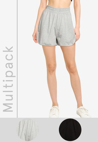 MISSGUIDED multi 2 Pack Jersey Runner Shorts 0F197AA07ACFB7GS_1