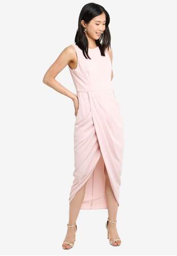 Forever New pink Lilly Drape Dress 56FC1AA844DD2AGS_1