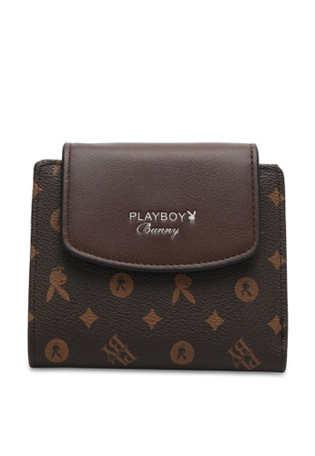 PLAYBOY BUNNY brown Women's Purse With Coin Compartment / Wallet With Coin Compartment C19DFAC3B514A2GS_1