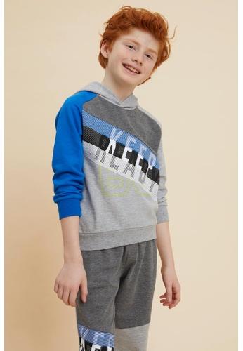DeFacto grey Boy Knitted Sweat Shirt FF670KA998D327GS_1