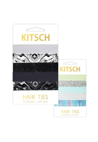 Buy Kitsch Ice Castle and Marble Hair Tie Set  b4e6cf7c358