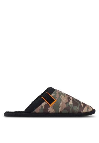 Superdry green Classic Mule Slippers 3A638SH41D2340GS_1