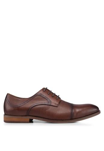Carlton London brown Lace Up Dress Shoes 10CE3SH8D50E24GS_1