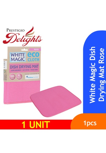 Prestigio Delights White Magic Dish Drying Mat Rose 75B46ES446D472GS_1