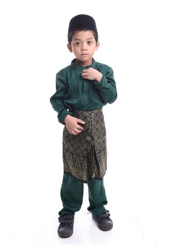 Denai Boutique green Baju Melayu Salleh E7C92KAC9071E9GS_1