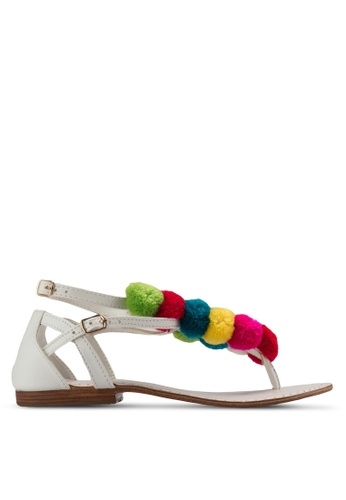 Sulima white and pink and yellow Liana Sandals SU915SH61XVEMY_1