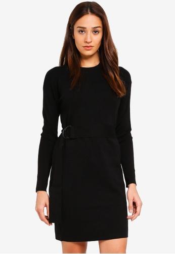 Jack Wills black Woodlea Tie Waist Dress D4B84AAAC3464DGS_1