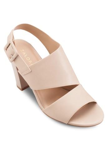 不合錯誤稱鏤空多帶粗跟高跟鞋、 女鞋、 鞋ZALORA不合錯誤稱鏤空多帶粗跟高跟鞋最新折價