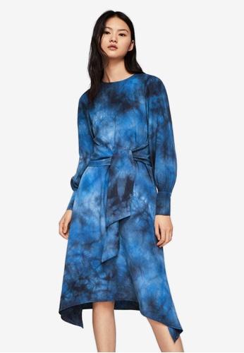 Mango blue Tie Dye Print Dress FE1EBAAB8C1CC7GS_1