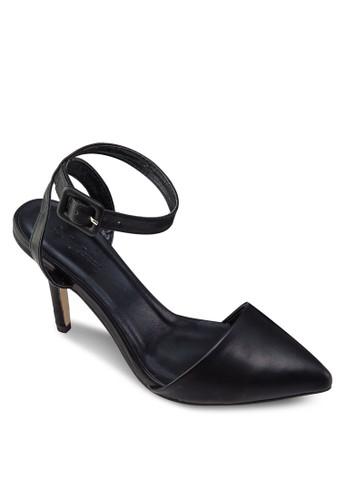 尖頭繞踝高跟zalora 手錶涼鞋, 女鞋, 中跟