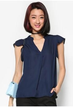 Chiffon Shirt with Petal Sleeves