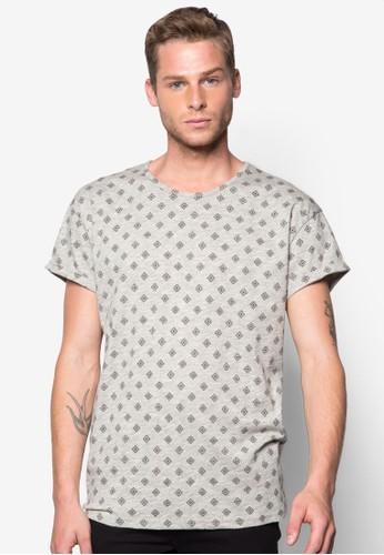 菱形印花adl esprit短袖TEE, 服飾, 印圖T恤