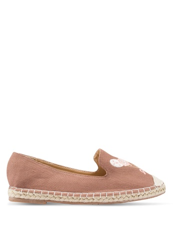 Berrybenka 粉紅色 刺繡帆布便鞋 378D9SH9211468GS_1