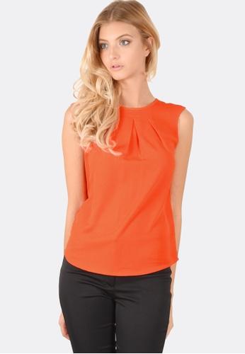 FORCAST orange Lilia Sleeveless Top FO347AA0GOZLSG_1