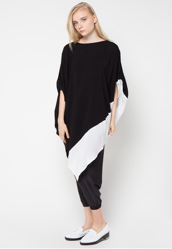 MONDAY TO SUNDAY black and white Gaby Dress MO145AA18UYRID_1